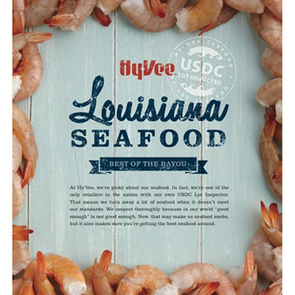 Hy-Vee Lousiana Seafood Promotion Poster